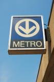 Metro sign Royalty Free Stock Photo