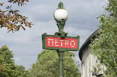 Metro sign, french subway in France Stock Photo