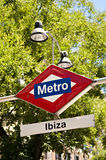Metro sign, madrid Stock Photography