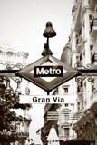 Metro sign in Madrid Stock Photo