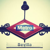 Metro sign in Madrid Royalty Free Stock Image