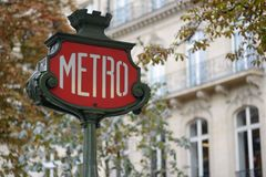 Metro sign Stock Photography