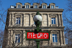 Metro Sign in Paris Royalty Free Stock Photos