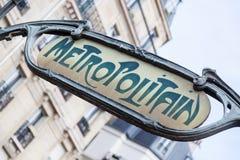 Metro Sign in Paris Stock Photography