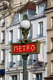 Metro Sign in Paris Stock Photography