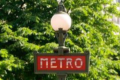 Metro Sign in Paris Royalty Free Stock Photos