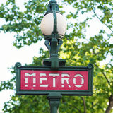 Metro Sign. Stock Photo