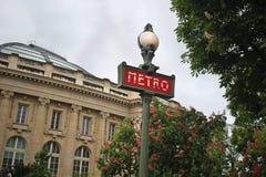 Metro Sign in Paris Royalty Free Stock Image
