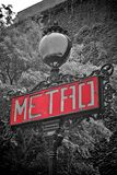 Metro sign paris Royalty Free Stock Images