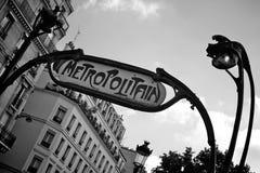 Metro sign paris Royalty Free Stock Photos