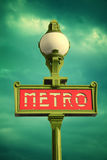 Metro sign in Paris Royalty Free Stock Images
