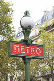Metro sign Stock Images