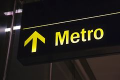 Metro sign underground Royalty Free Stock Photography