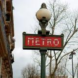 Metro signage Royalty Free Stock Photo
