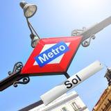 Metro Sol in Madrid Stock Photo
