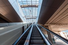Metro, metro, stacja metra Amsterdam Noord/, Nederland fotografia royalty free