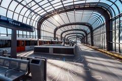 Metro, metro, stacja metra Amsterdam Noord/, Nederland obrazy stock