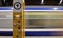Metro station. In Leipzig Germany Stock Photo