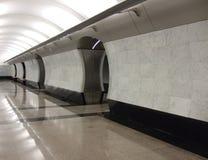 Metro station. A new modern empty metro station interior royalty free stock photo