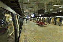 Metro station. Dristor 2 metro train station in bucharest, romania Royalty Free Stock Image