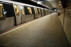 Metro station. Timpuri noi metro train station in bucharest, romania Royalty Free Stock Photo