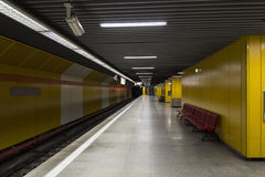 Metro station. Metro train station in bucharest, romania Royalty Free Stock Image