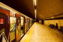 Metro station royalty free stock photography