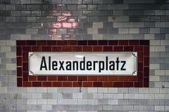 Metro station Alexanderplatz Stock Image