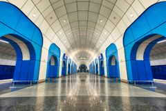 Metro Station in Almaty, Kazakhstan, taken in August 2018 taken royalty free stock image