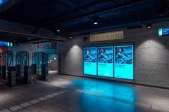 Metro station Amsterdam Weesperplein, exit royalty free stock photo