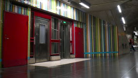 Metro station. Art in the subway. Stockholm. Sweden. Metro station. Art in the subway. Stockholm Sweden stock footage