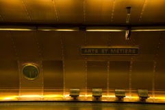 Metro station Arts et Metiers Royalty Free Stock Photos