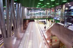 Metro Station. Metro, car queue, subway station, subway passengers, public transport, platform metro, suburban train underground, a network of underground stock images