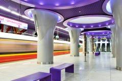 Metro Station. Metro, car queue, subway station, subway passengers, public transport, platform metro, suburban train underground, a network of underground royalty free stock photography