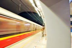 Metro Station. Metro, car queue, subway station, subway passengers, public transport, platform metro, suburban train underground, a network of underground stock image
