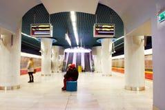 Metro Station. Metro, car queue, subway station, subway passengers, public transport, platform metro, suburban train underground, a network of underground stock photography