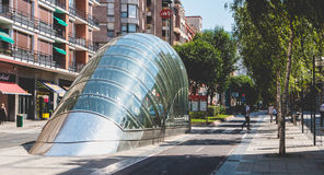 Metro station in the city of Bilbao, Spain Royalty Free Stock Image