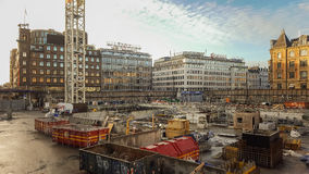 Metro station construction site Stock Photography