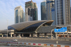 Metro Station in Dubai Stock Photography