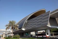 Metro Station in Dubai City Stock Photos