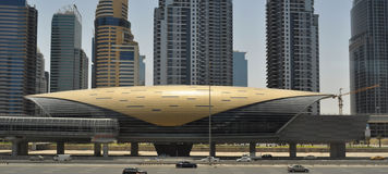 Dubai Metro station Stock Photos