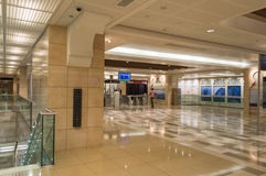 Metro Station in Dubai Stock Photo