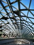 Metro station Glass roof in the sunshine royalty free stock image