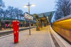 Metro Station Kellinghusen Strasse at night Stock Photo