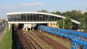 Metro. Station in Kiev, Ukraine stock video footage