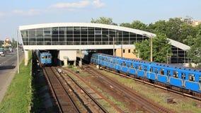 Metro. Station in Kiev, Ukraine stock video