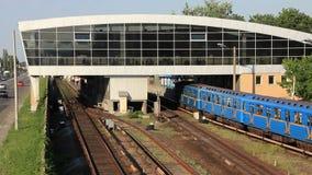 Metro. Station in Kiev, Ukraine stock footage