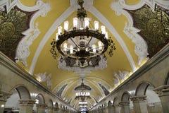 Metro station Komsomolskaya in Moscow, Russia Royalty Free Stock Photo