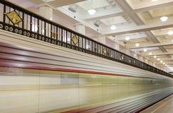 Metro station Komsomolskaya(Sokolnicheskaya Line) in Moscow, Russia Stock Images