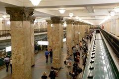 Metro station Komsomolskaya(Sokolnicheskaya Line) in Moscow, Russia Royalty Free Stock Photography
